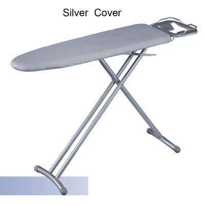 Universal 3 Size Ironing Board Cotton Cover w/ 4mm Fiber Pad Reflect Heat Silver
