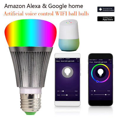 LED Lampe E27 Smart Dimmbare WIFI APP Fernbedienung RGB Home iOS