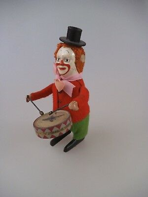 Schuco Tanzfigur Clown mit Trommel Made in Germany (2180)