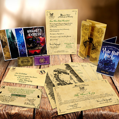 Poudlard Méga Pack ! Acceptation Lettre, Cartes + Plus ! Harry Potter Style 3
