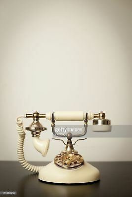 "Photos by Getty Images ""Antique Victorian-Style Rotary Telephone, With Copy"