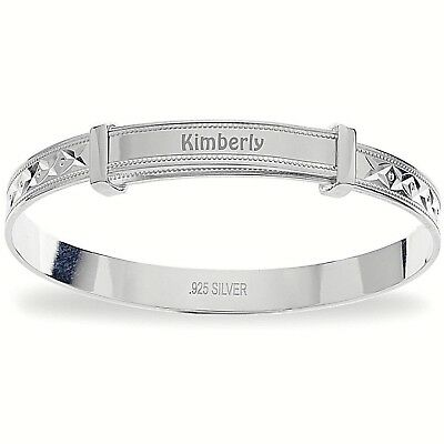 Bespoke Silver Diamond Expandable Baby Girl's Bracelet Free Delivery Gift Boxed