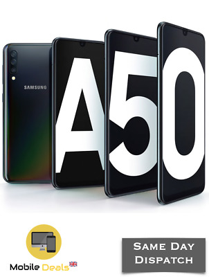 New Samsung Galaxy A50 128GB (2019) Dual SIM 4G LTE Smartphone Android 3 Colours