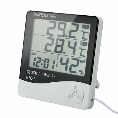 Digital Indoor Outdoor Thermometer Hygrometer Temperature Humidity Monitor LCD