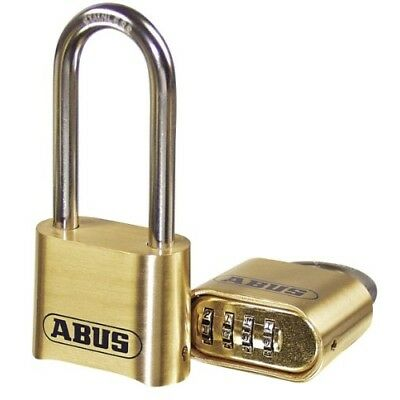 ABUS 180/50 Solid Brass Combination Padlock - Long Stainless Steel Shackle 2-...