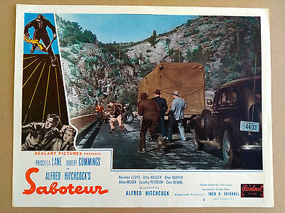 SABOTEUR ALFRED HITCHCOCK LOBBY CARD Very old and rare