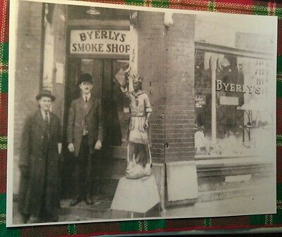 1899 Irwin PA. Byerly's Smoke Shop Cigar Store Indian 4th & Main St. Poster Repo