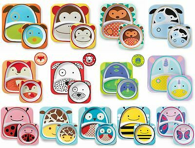 Skip Hop Zoo Tableware Sets - Toddler/Kids Melamine Plate & Bowl