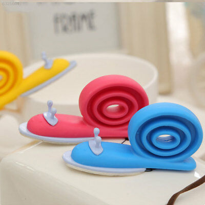 8E7B Door Stop Floor Stop Windproof Silicone Snail Shape Baby Safety