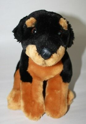 Animal Alley Rottweiler Puppy Dog Plush Stuffed Toy 12 Black