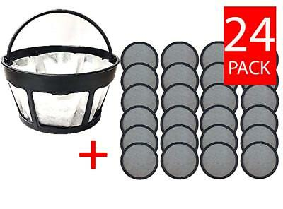 Replacement Mr. Coffee Charcoal Coffee Water Disks (24) + Paper Filter Holder