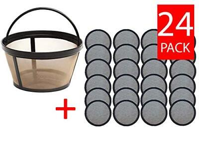 Replacement Mr. Coffee Charcoal Coffee Water Disks (24) + Basket Filter