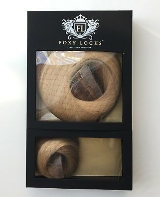 Foxy Locks Genuine Seamless Hair Extensions - Light Brown/Blonde Ombre