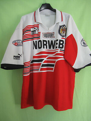 Maillot Rugby Wigan League Warriors Norweb Puma 1994 Jersey England - XL