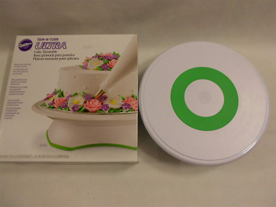 Wilton Trim 'n Turn Ultra Cake Turntable-12-inch Round Green and White