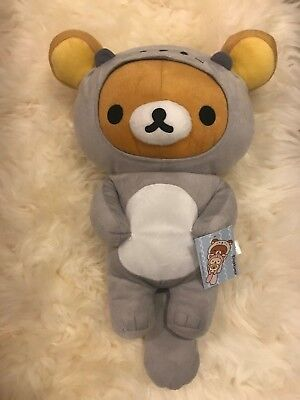 NWT Rilakkuma Grey Sea Otter Costume Plush SAN-X Japanese Design, 16""