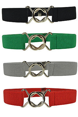 Kids Belts. Childrens 1-6 Years fully adjustable Stretch Belt with Slot Buckle