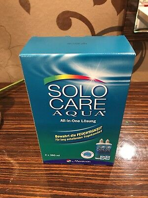 Solo Care Aqua 2x 360ml All-in-One Lösung / Menicon / NEU
