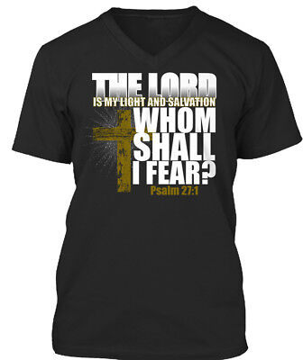 The Lord Is My Light And Salvation - Whom Shall I Fear Premium Jersey V-Neck