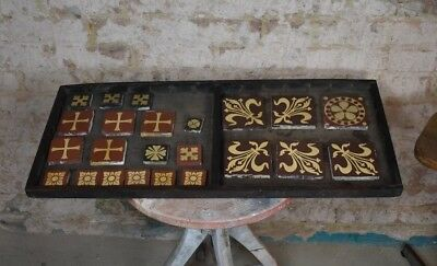 Antique Victorian E Smith & Co Coalville Encaustic Tiles Floor Wall Minton