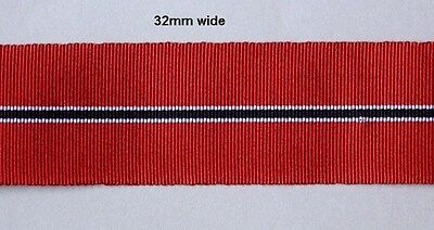 12 inch or 36 inch length Full Size GERMAN WWII RUSSIAN CAMPAIGN Medal Ribbon