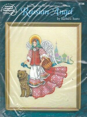 American School of Needlework Russian Angel Counted Cross Stitch Kit 3762