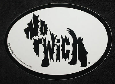 Norwich Terrier Oval Euro Style Car Dog Decal Sticker