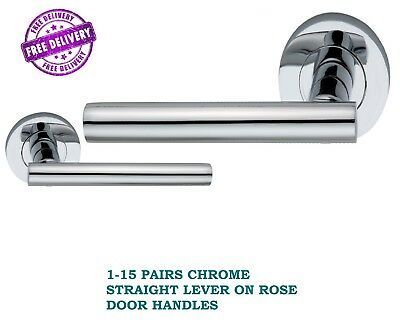 FREE /& FAST DELIVERY D27 CHROME Georgian ROPE INTERIOR Door Knobs 1-15 PAIRS
