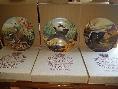 Game bird Plate Collection set of 3