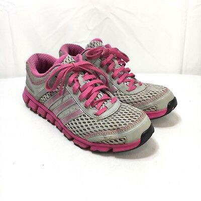 ADIDAS CLIMA COOL Modulation Womens 7 Gray Pink Lace Up Athletic Running Shoes