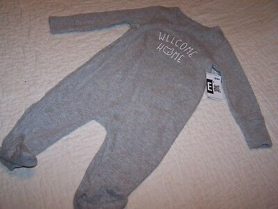 "Boy/Girl~9-12 Month~Sleeper~Gray~""Welcome Home""~Baby Gap~Cute!! NWOT"