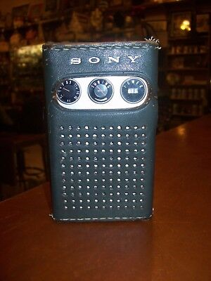 "Vintage Sony Tr-817 ""Super Sensitive"" Transistor Radio With Case  Works!"