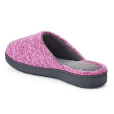 ac9bb69b0db8b2 NEW - ISOTONER Women s  ANDREA SPACE KNIT  Violet SLIP ON SLIPPERS - 8.5