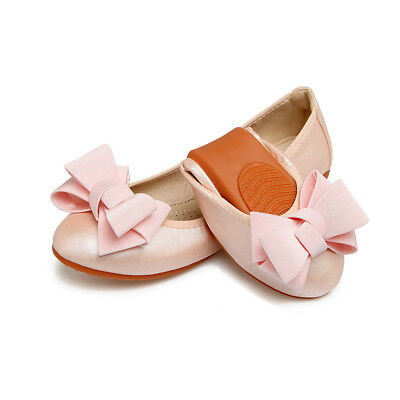 Womens Ballet Flats Classic Bow Ballerina Comfort Slippers Foldable Single Shoes