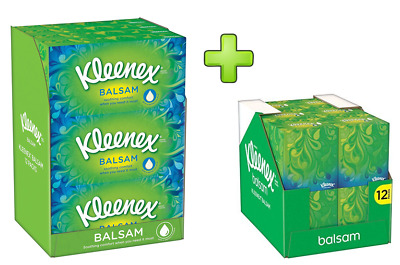 Kleenex Balsam Cube,Face Tissues or Mixed Pack or EcoClenz Offer Pack!