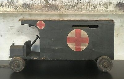 The PRIORY TOYS - Vintage Ambulance - um 1910 - Riesig - Very Rare! Selten!