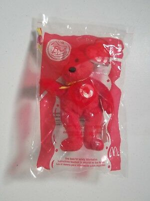 ced853e1091 25th Anniversary Ty McDonalds Happy Meal Toy Plush Happy Meal the Bear  1  2004