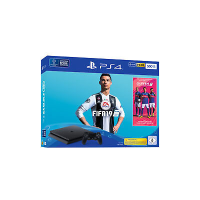 SONY PS4™ 500GB Jet Black EA Sports Fifa 19-Bundle V2 HDR Deutsche Ware NEU OVP