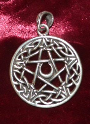 Lovely Celtic Pentacle Pedant Sterling Silver Wiccan/Pagan/Druid/Gothic