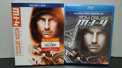 ** Mission Impossible: Ghost Protocol (DVD + Blu-ray) - Tom Cruise - Ships Free!