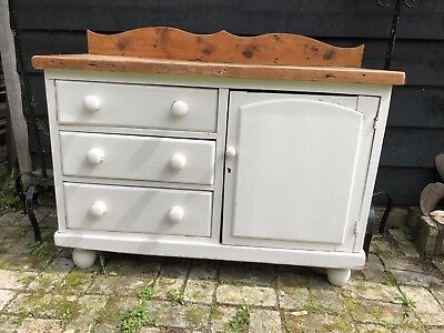 antique victorian pine Sideboard. Painted.  Southampton