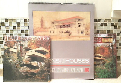 Lot 3 Frank Lloyd Wright Calendars Fallingwater Designs For Houses Art & Archit.