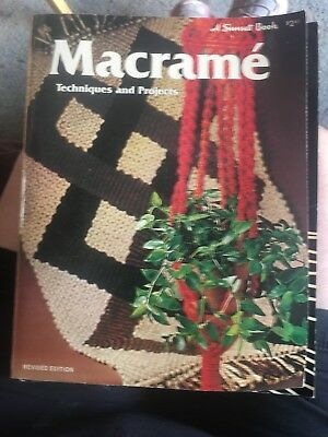 Macrame Techniques and Projects Book - Sunset Publications VINTAGE 1976