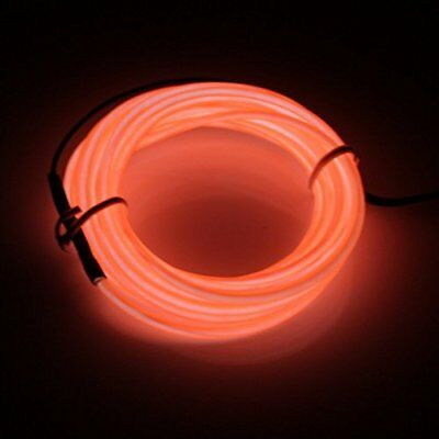 Lerway 5m Flessibile EL Wire Neon LED Elettroluminescente Luce + (Q7w)