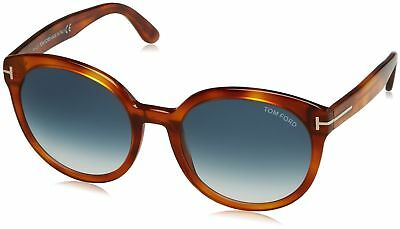 f66be1ad8c7 Tom Ford FT0503 53W Blond Havana Phillipa Round Sunglasses Lens Category 2  Size