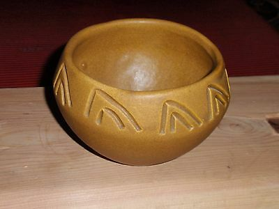 Vintage South Western Pottery Ceramic Bowl Handmade Signed 1980