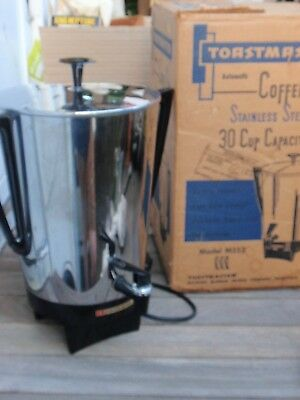 Vintage Coffee Maker 30 Cup Urn Toastmaster Stainless