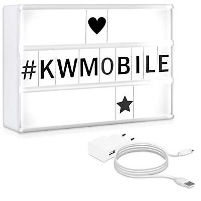 kwmobile Lightbox 7 colori scatola luminosa - Light Box A5 LED 126 (j3y)