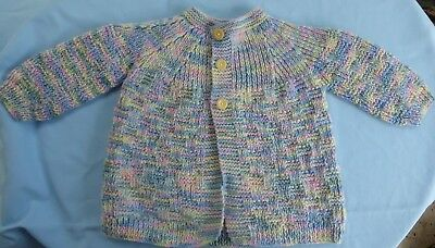 Baby Hand Knitted Jacket Multi Coloured Suit 9 To 12 Month Old (27)