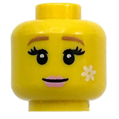 Lego Female Yellow HEADS for minifigures girl woman smile lips # NEW # 6p2 x6